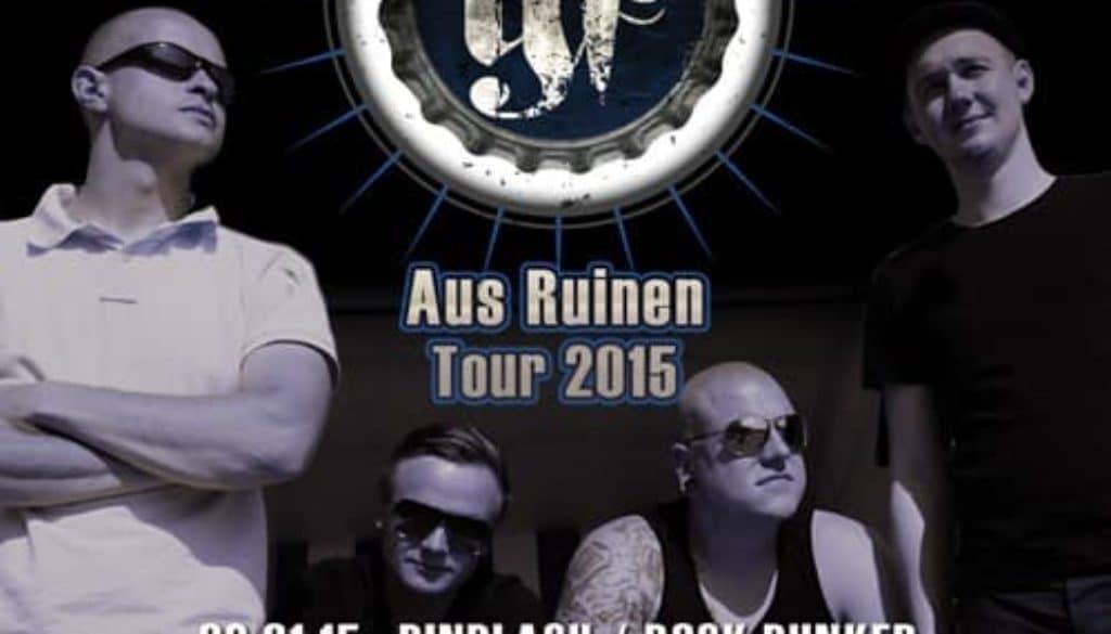 Tourplakat Aus Ruinen 2015