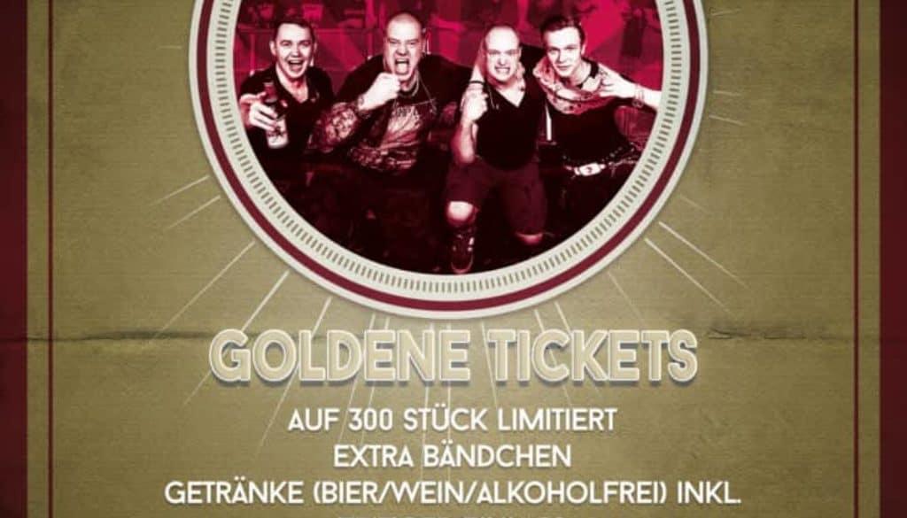 Jahresabschluss goldene tickets