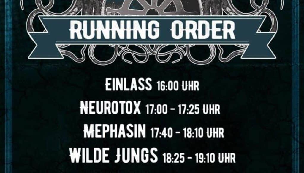Running Order GF-Festival 2016