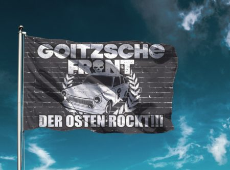 "Flagge ""Der Osten rockt!"""
