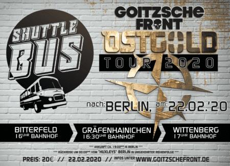Busfahrt zum Ostgold Tourkonzert Berlin