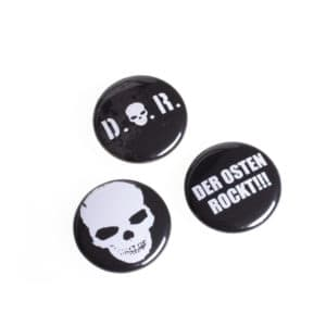 "Button 3er Set ""Der Osten rockt"""