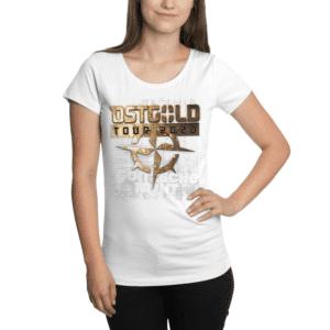 """Girly Shirt """"Ostgold Tour"""" Weiss"""
