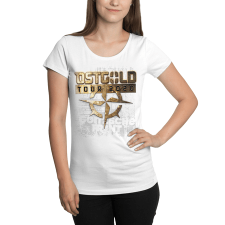 "Girly Shirt ""Ostgold Tour"" Weiss"