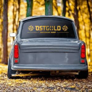 """Aufkleber gold """"Ostgold"""" 80x17cm"""